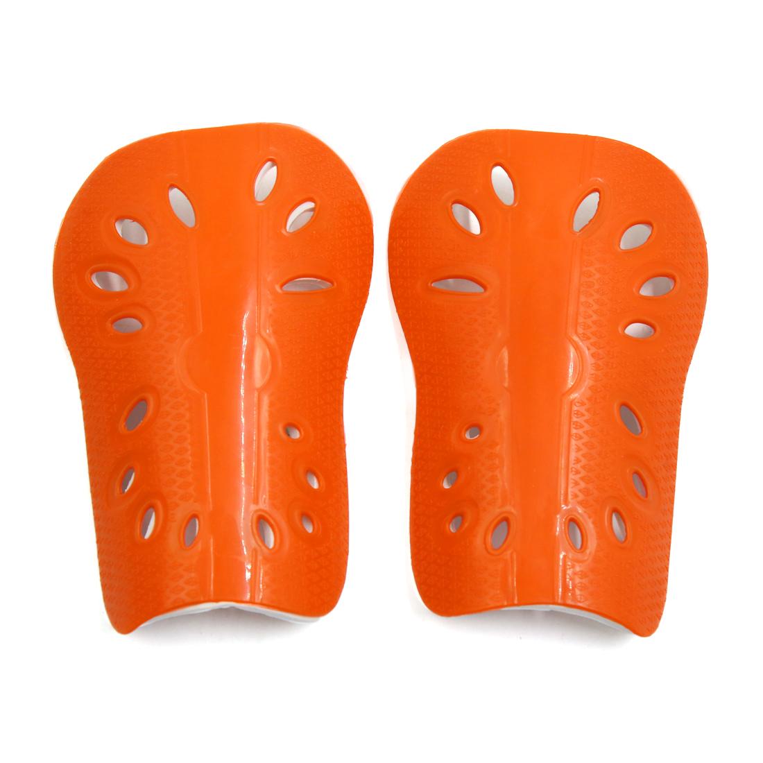 1 Pair Fluorescent Orange Kids Football Outdoor Sports Shin Pad Protective Gear Legs Guards