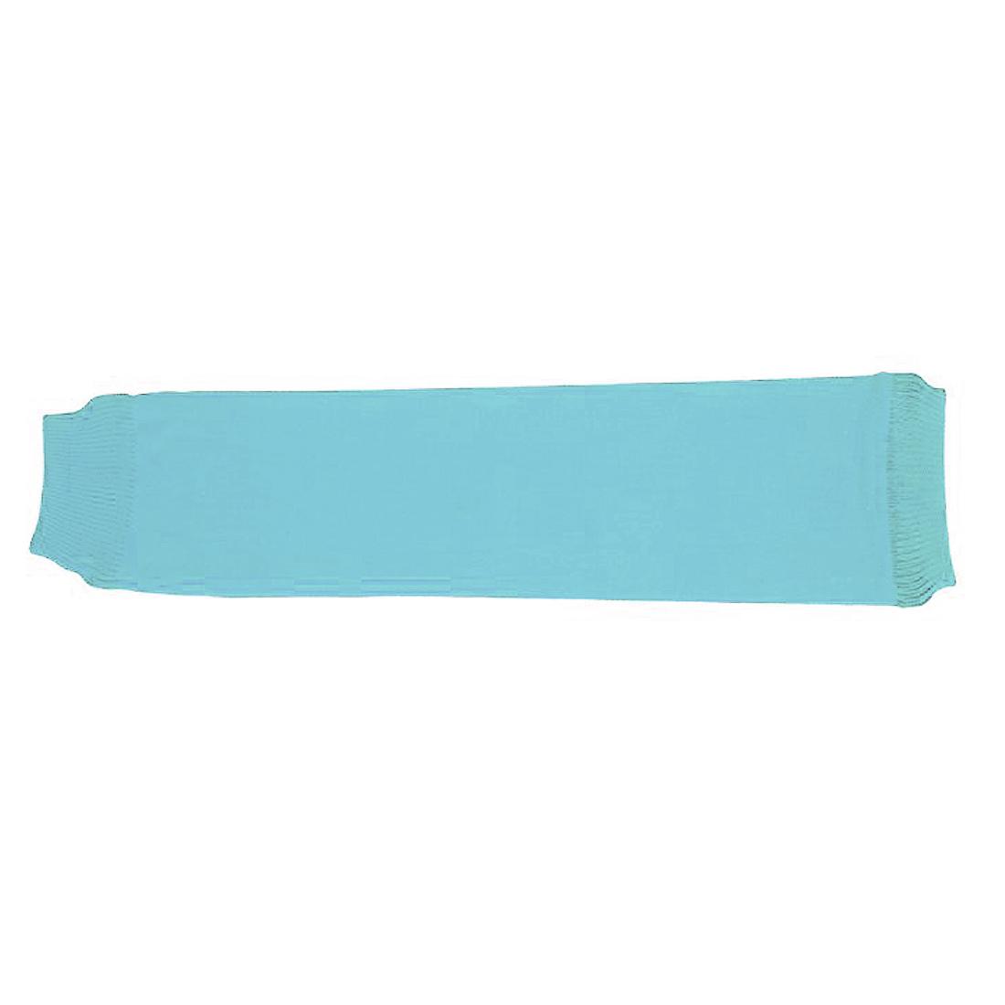 Light Blue Elastic Cotton Basketball Sports Arm Sleeves UV Sun Cover Sprain Protection