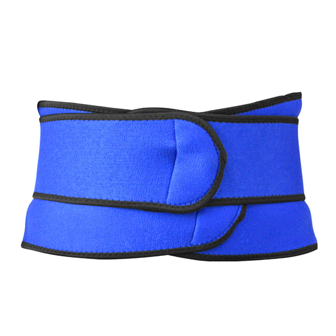 Blue Hook Loop Closure Sports Protect Waist Protector Support Band Warm Keeper