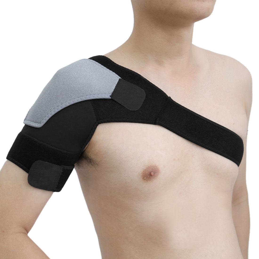 Black Gray Right Adjustable Shoulder Sleeves Back Posture Corrector Support Belt