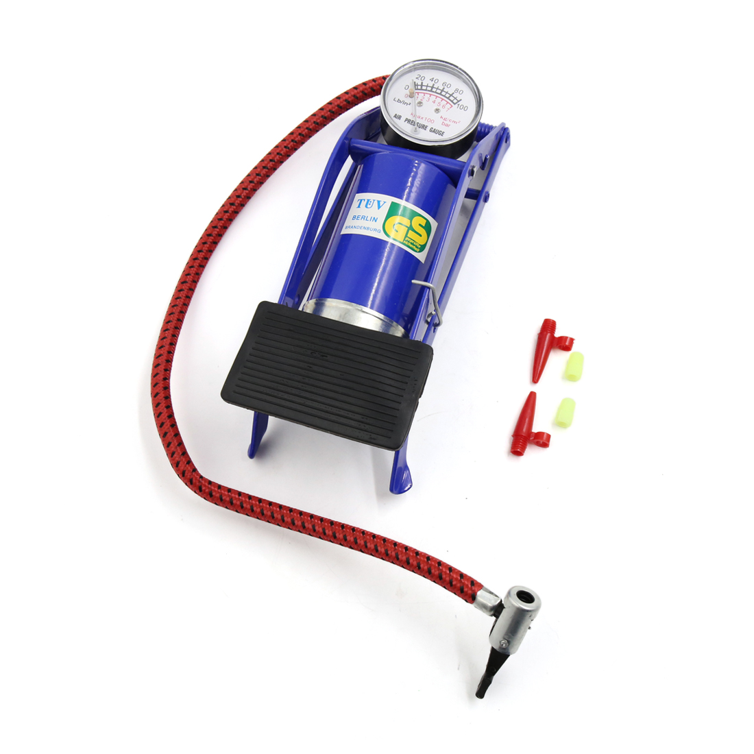 Car Vehicle Motorcycle Portable Wheel Tyre Air Inflator Foot Pump