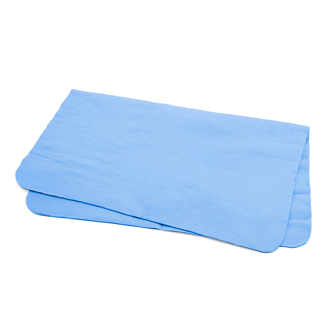 Blue Synthetic Chamois Washing Towel Car Home Clean Cloth Duster 43cm x 32cm