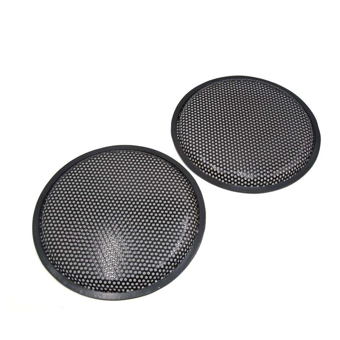 "2 Pcs 10"" Dia Black Metal Mesh Audio Speaker Subwoofer Dust Cover Protector for Auto Car"