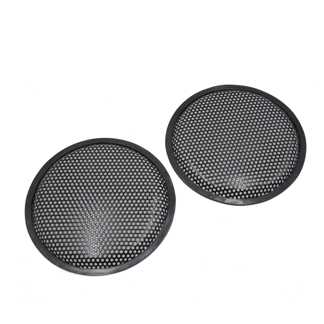 "2 Pcs 8"" Dia Black Metal Mesh Audio Speaker Subwoofer Dust Cover Protector for Auto Car"