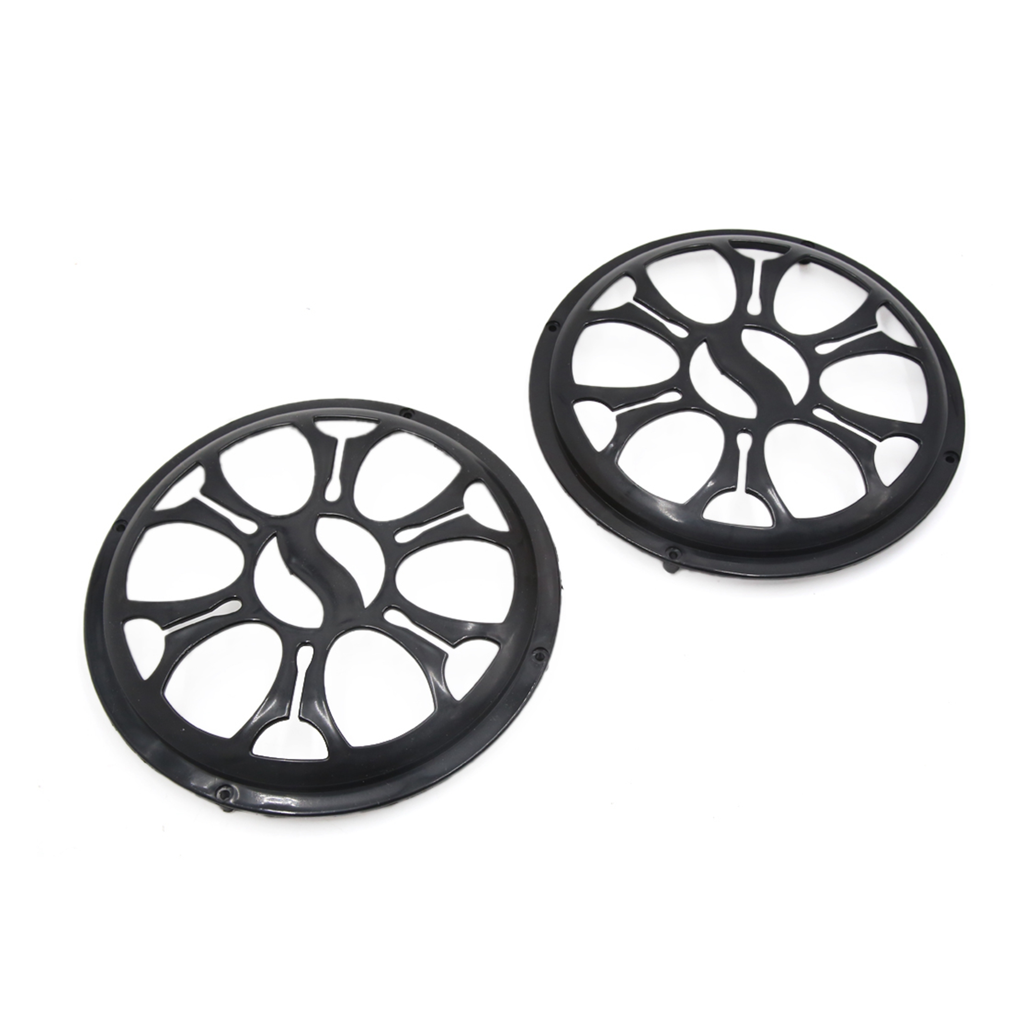 "2 Pcs 8"" Dia Black Plastic Audio Speaker Subwoofer Dust Cover Protector for Auto Car"