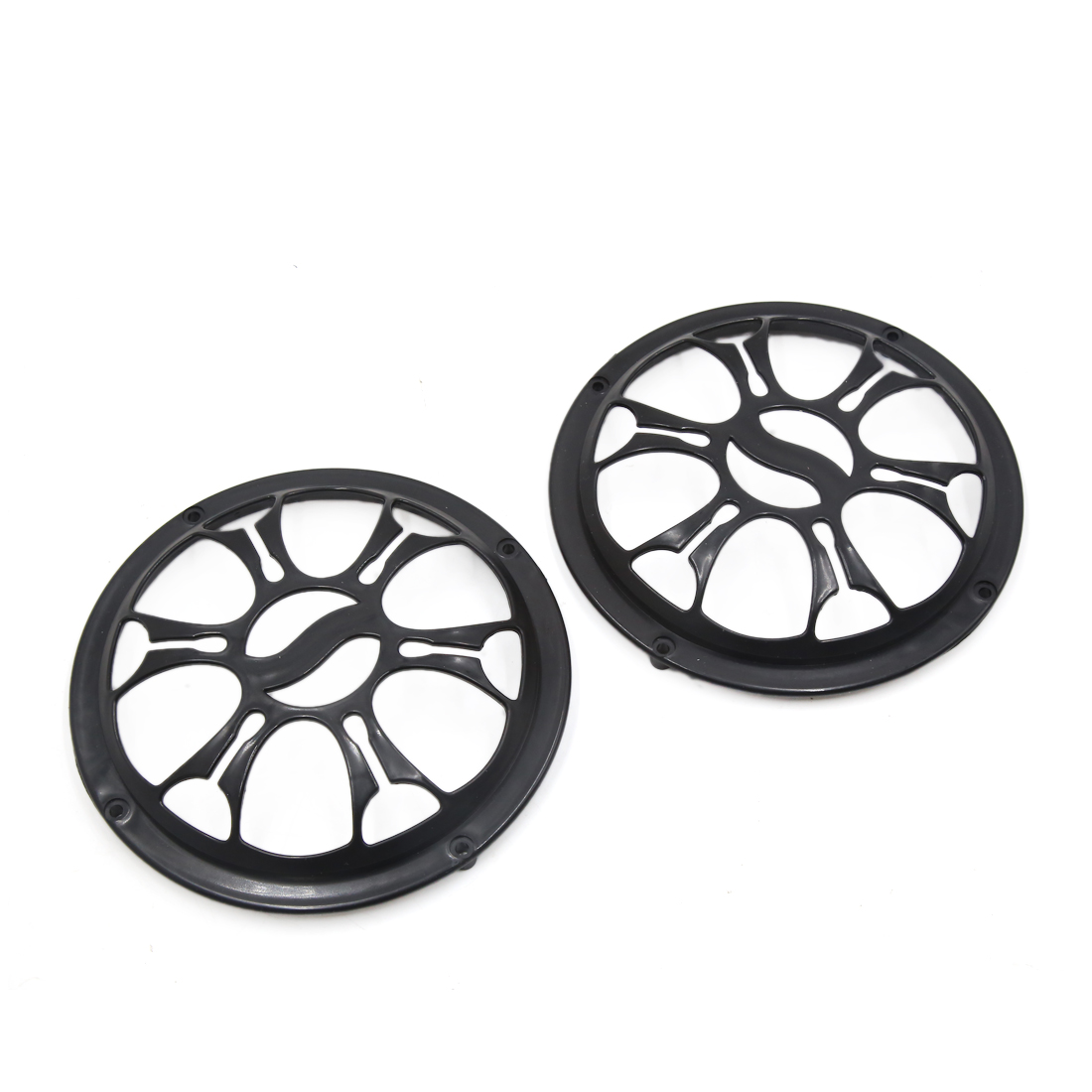 "2 Pcs 6"" Dia Black Plastic Audio Speaker Subwoofer Dust Cover Protector for Auto Car"