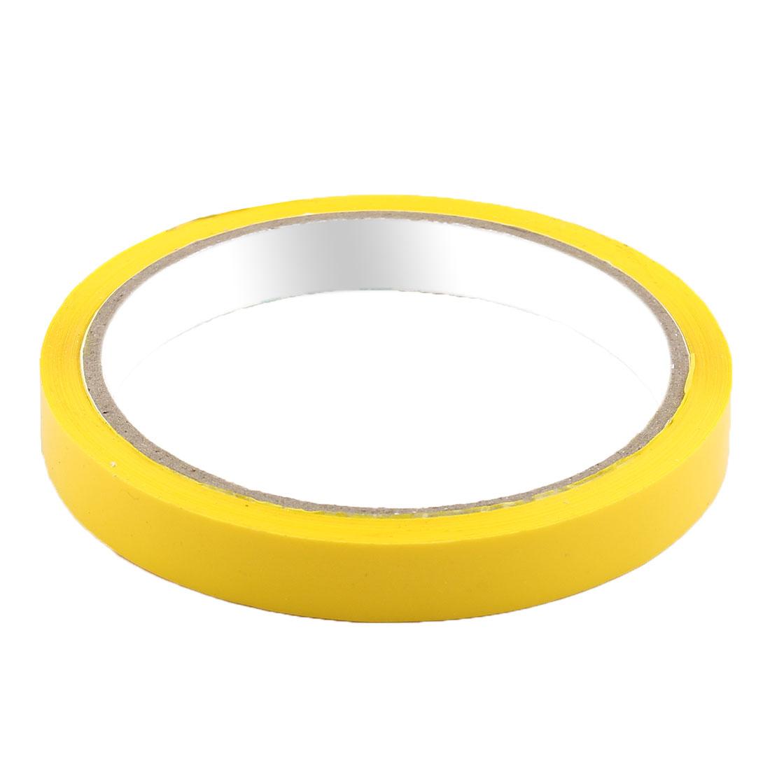 Supermarket PVC Vagetable Bag Neck Sealing Adhesive Tape Yellow 1.2cm Width 2pcs