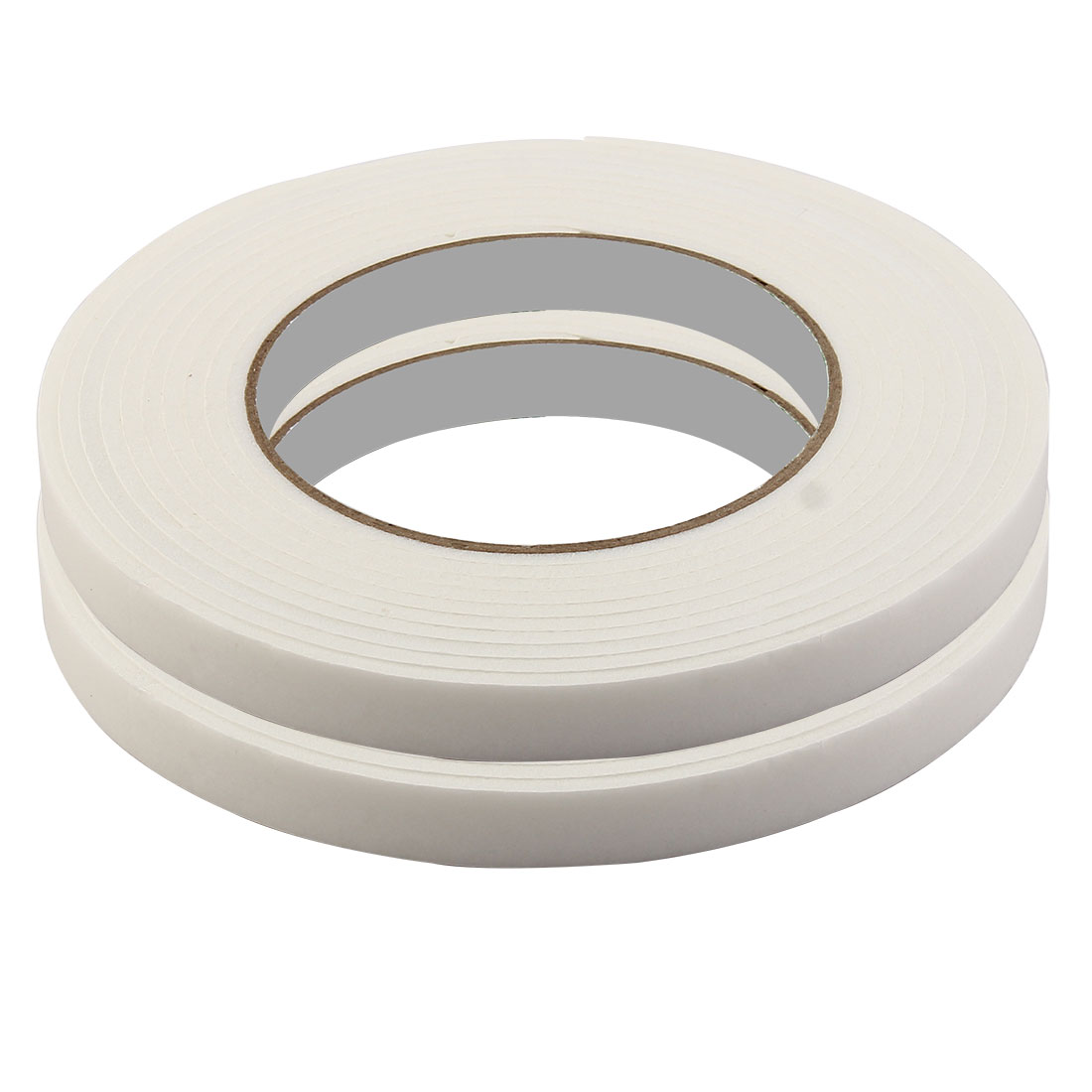 Home Sponge Strong Double Sided Sticky Adhesive Tape White 1.2cm x 4.6M 2 Rolls
