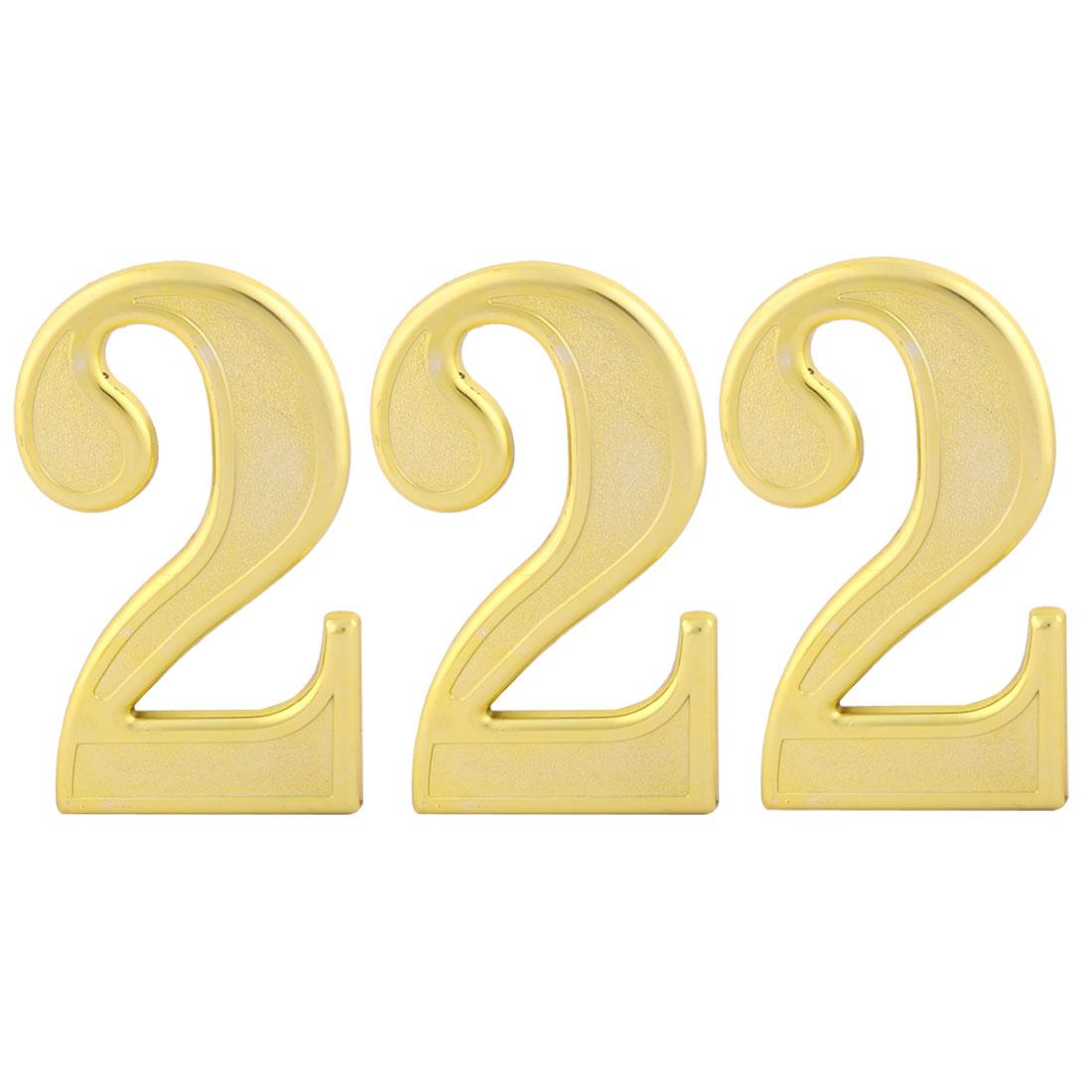 Address Street Plastic 2 Shaped Plate Number Self Adhesive Stick Sign Label 3pcs