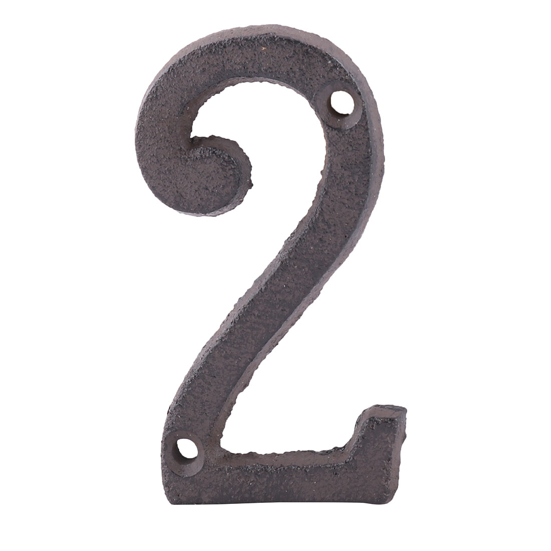 Home Street Cast Iron 2 Shaped Plate Number Door Wall Mounting Entrance Label
