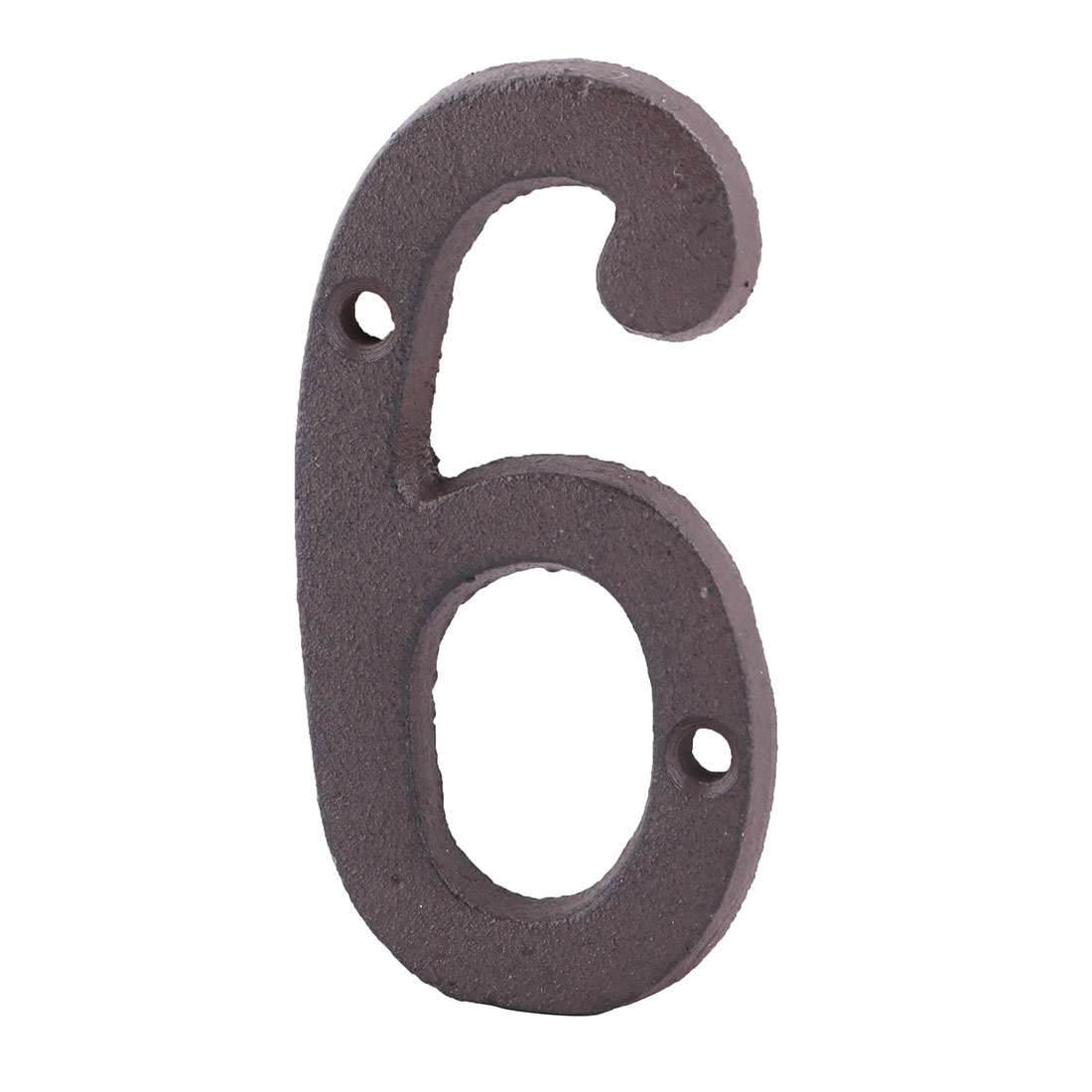 Home Street Cast Iron 6 Shaped Plate Number Door Wall Mounting Entrance Label