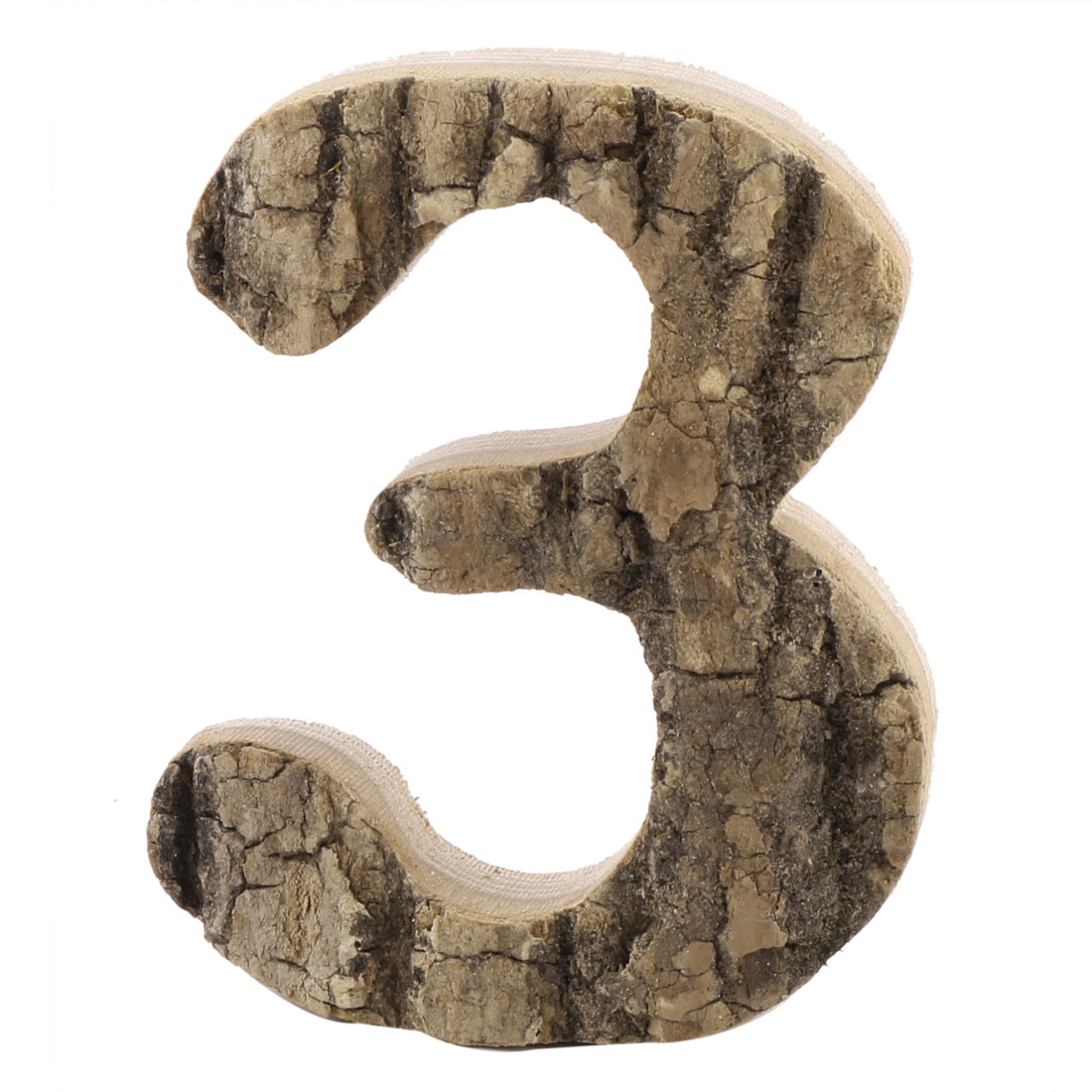 Hotel Street Wood 3 Shaped Numeral Decor Door Plate Plaque Number Label Sign