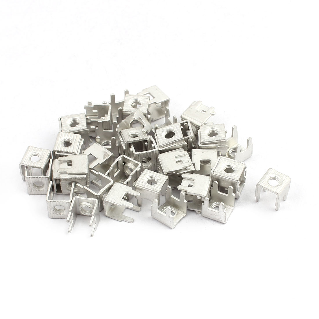 50pcs PCB-11 M4 Thread PCB Soldering Snap in Screw Terminal Block Terminals Only