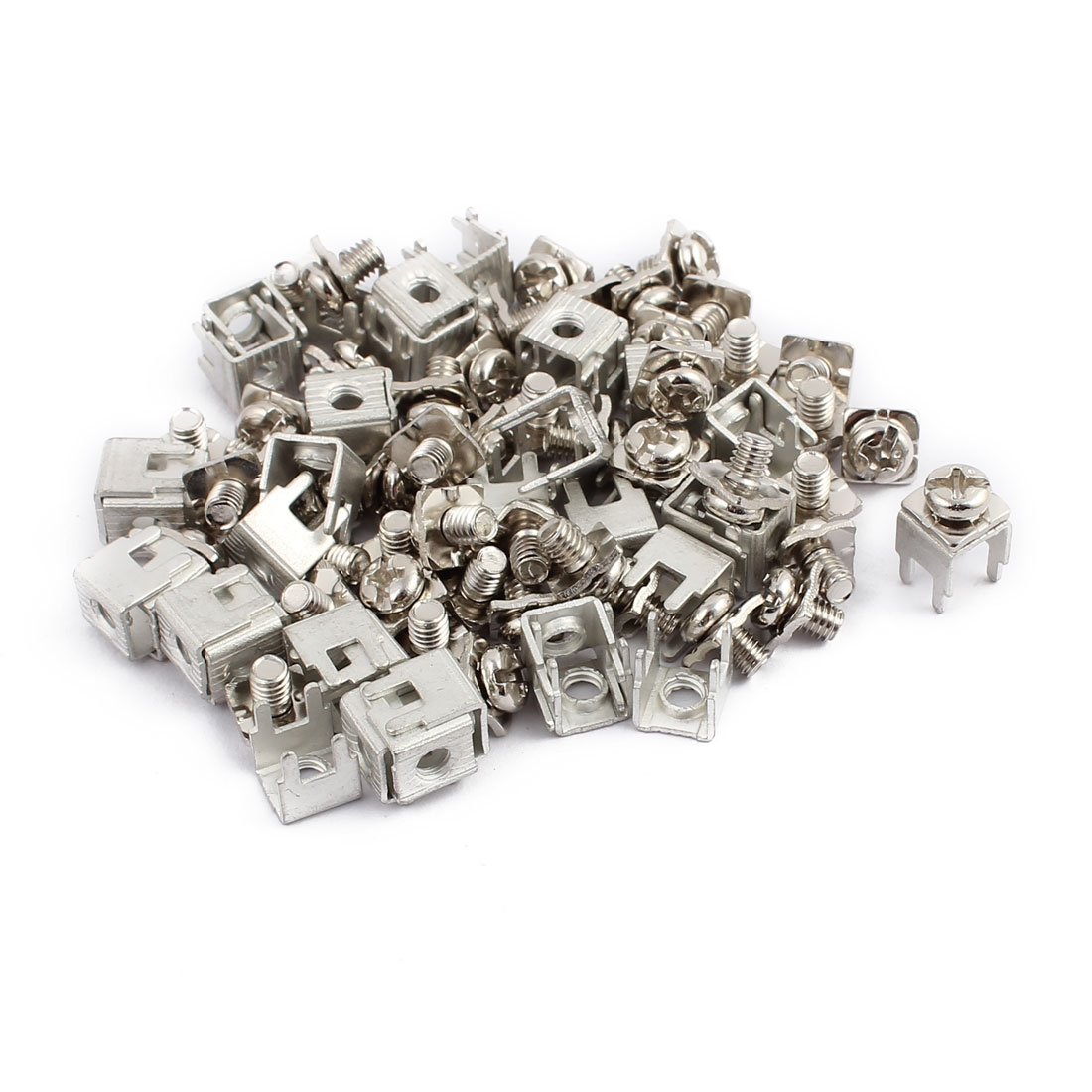 50pcs PCB-11 M4 Thread Snap in Screw Terminal Block w Rect Spacers Screws