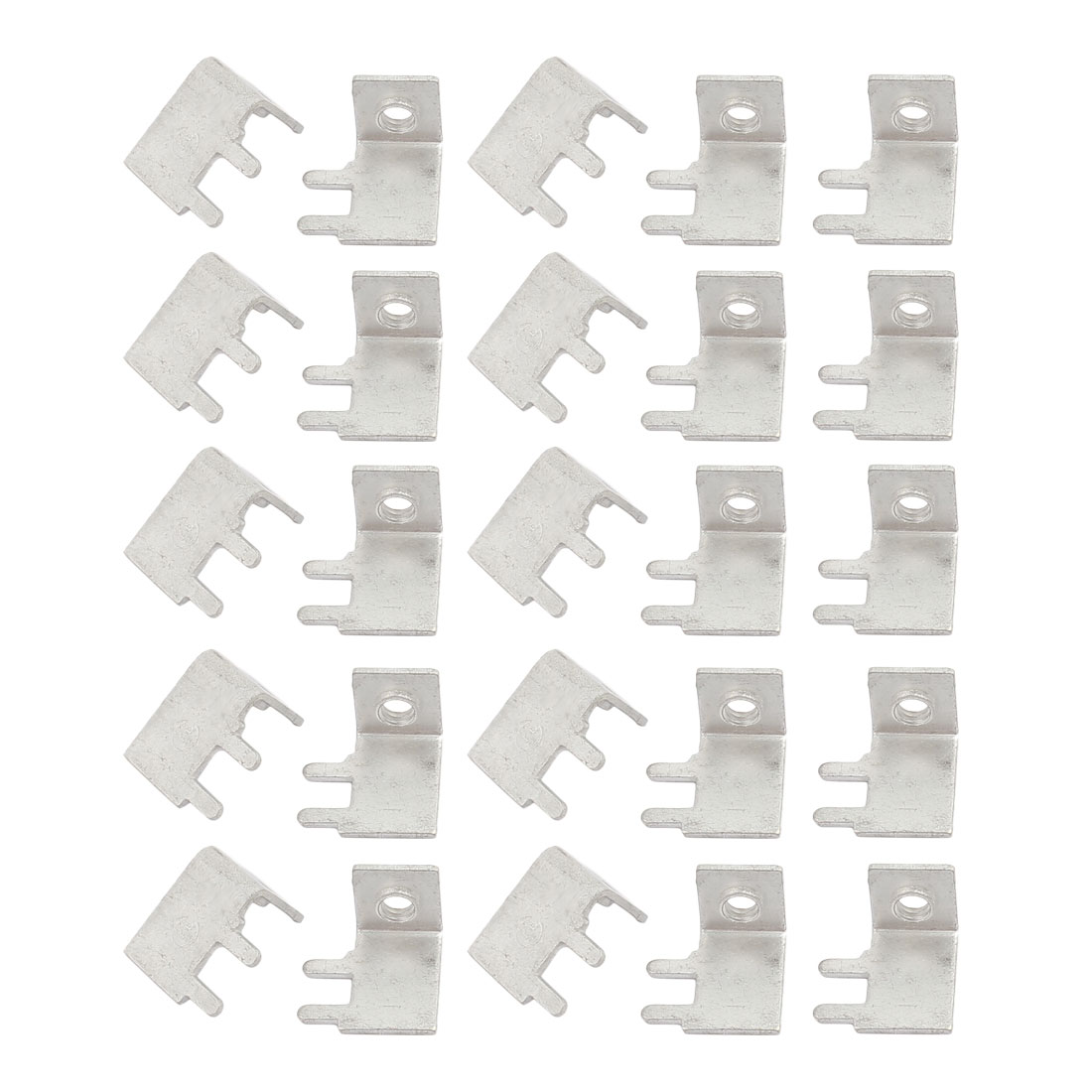 25 Pcs M3 2P Type 1 Side Face Snap in Screw Terminal Block Terminals Only