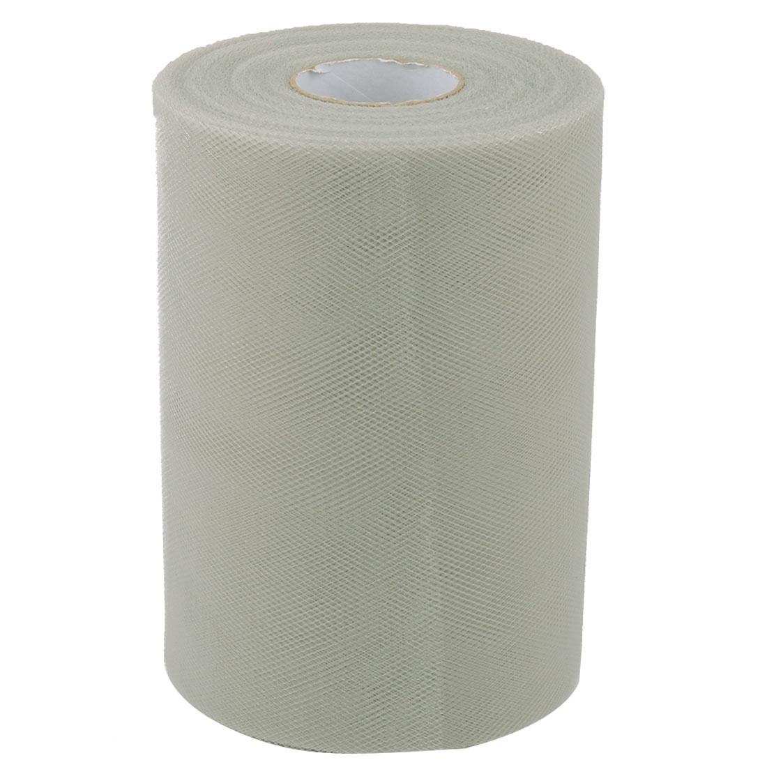 Family Tutu Gift Decor Craft Tulle Spool Roll Light Gray 6 Inch x 100 Yards