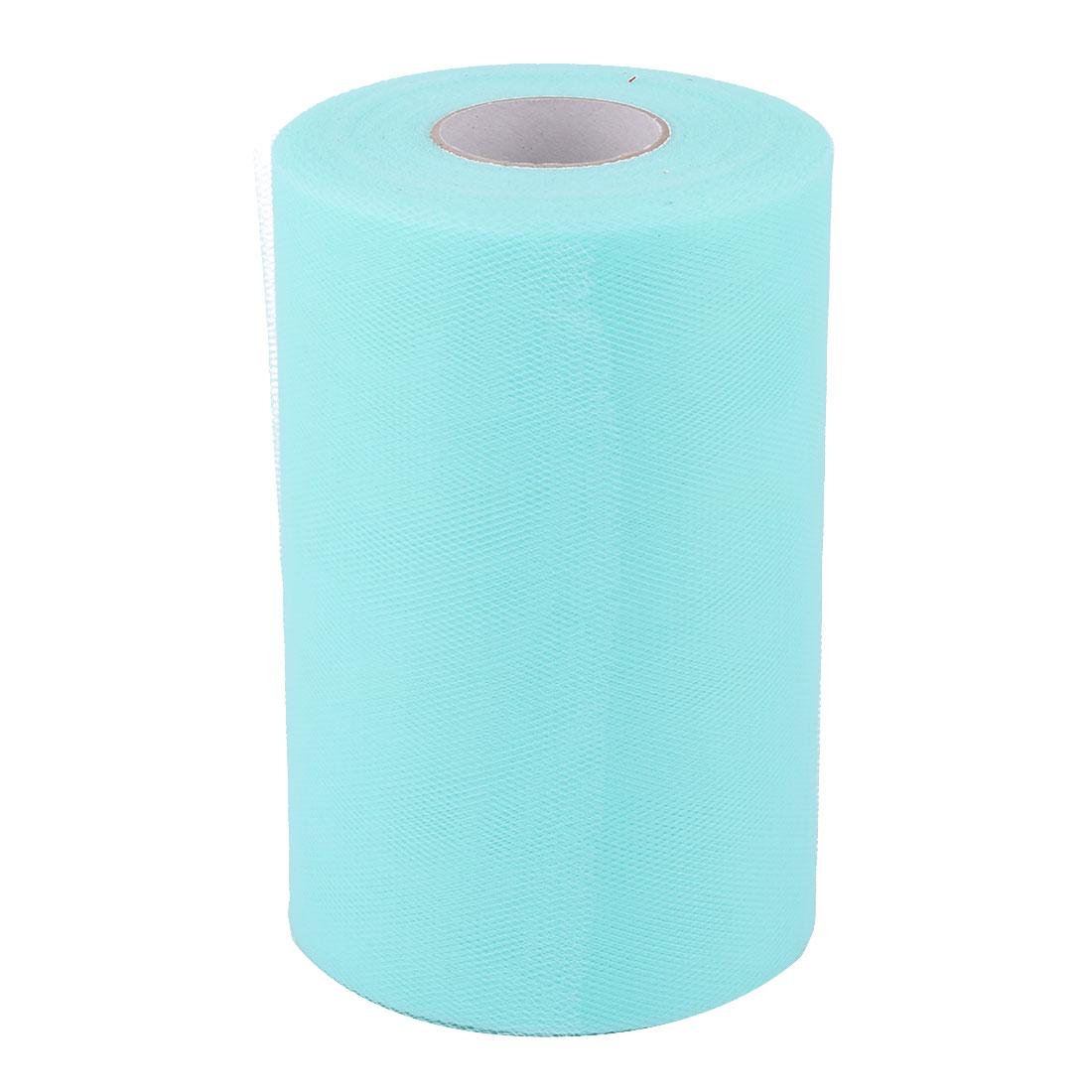 """6"""" x 100 YD Tulle Roll Spool Wedding Gift Tutu Fabric Decoration Craft Cyan"""