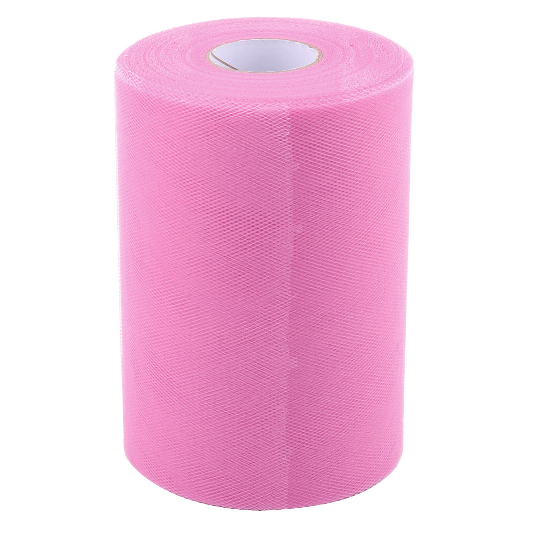 """6"""" x 100 YD Tulle Roll Spool Family Gift Wrap Skirt Tutu Decor Fabric Craft Pink"""