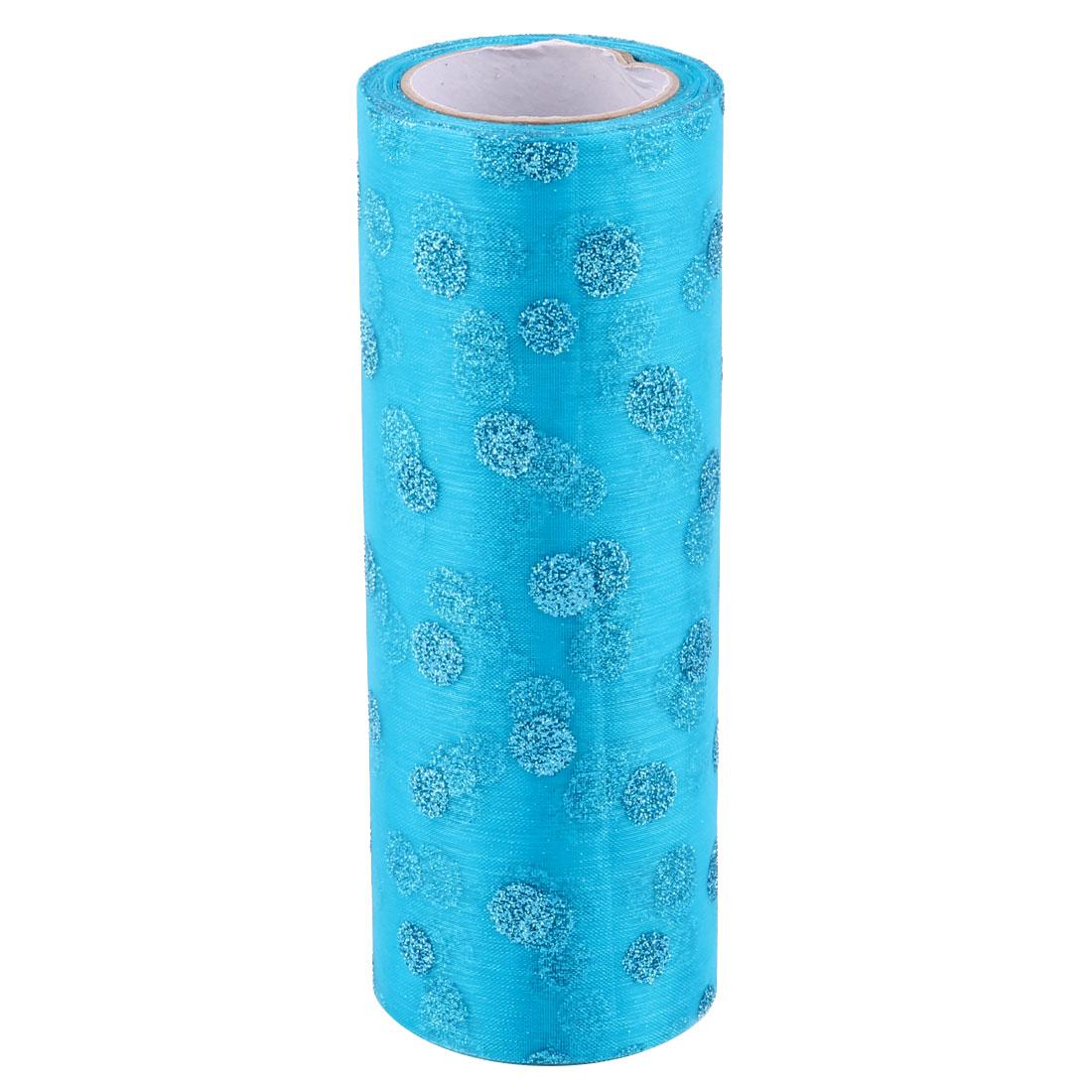 Home Wedding Nylon DIY Decoration Tulle Spool Roll Blue 6 Inch x 10 Yards