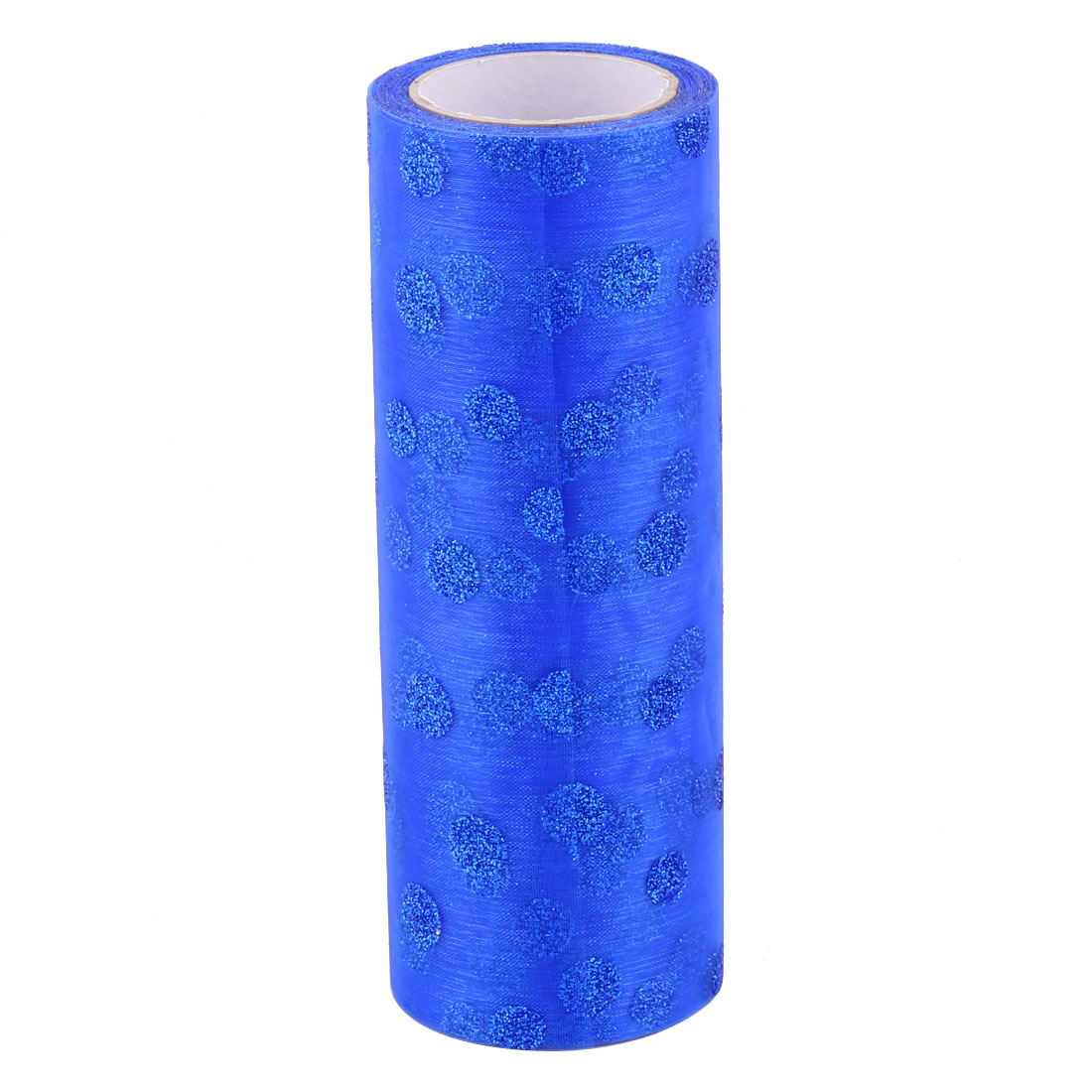 Home Wedding Nylon DIY Decoration Tulle Spool Roll Dark Blue 6 Inch x 10 Yards