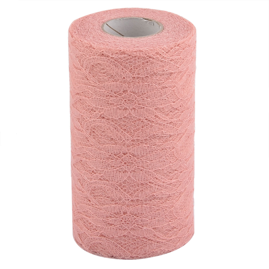 Party Lace Banquet Hall DIY Decor Tulle Spool Roll Coral Pink 6 Inch x 25 Yards