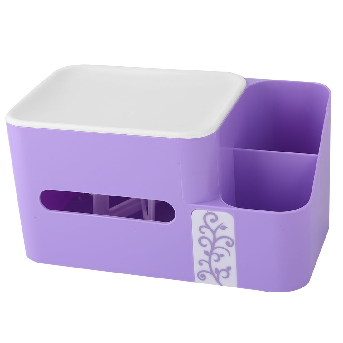 Bathroom Kitchen Plastic Tissue Paper Napkin Container Storage Box Holder Purple