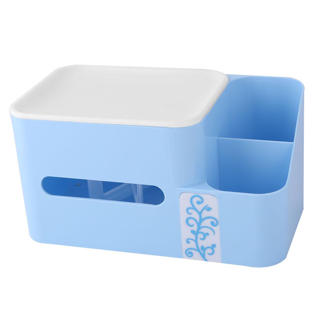 Bathroom Kitchen Plastic Tissue Paper Napkin Container Storage Box Holder Blue