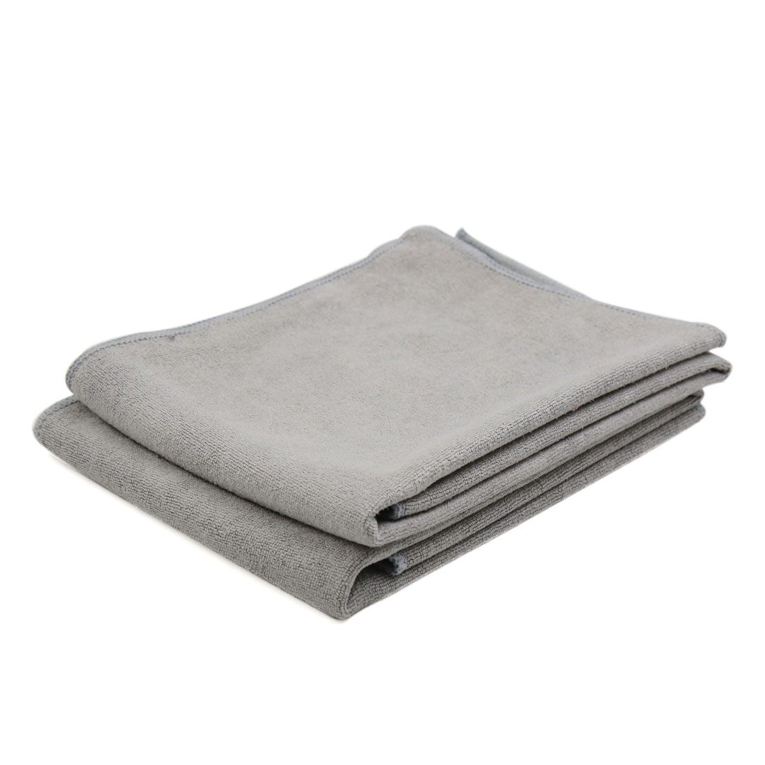 2pcs 60cm x 30cm Soft Microfiber Home Car Detailing Towel Cleaning Cloth Gray