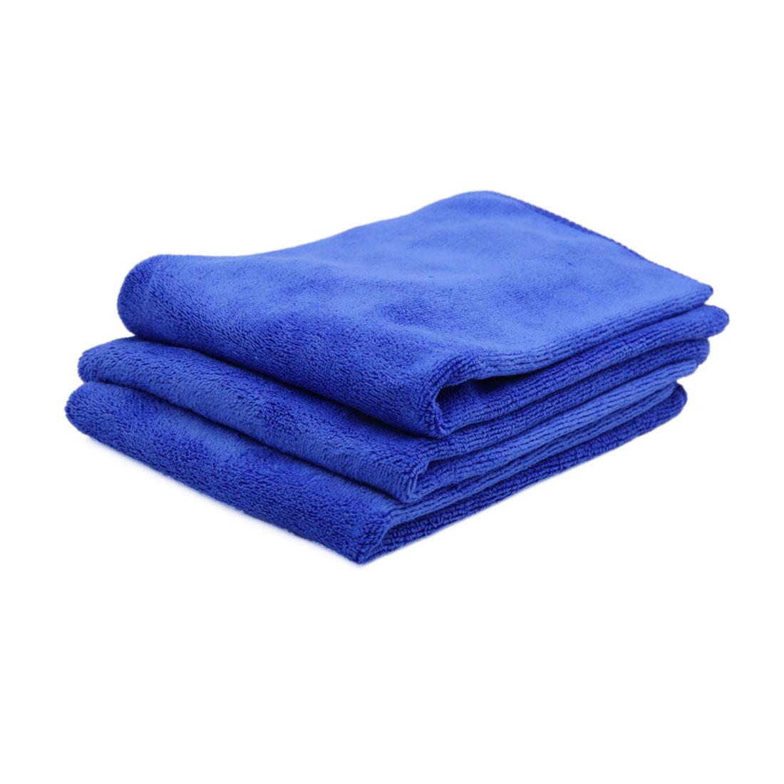 3pcs 40 x 40cm 400GSM Microfiber Car Cleaning Towels Drying Washing Cloth Green