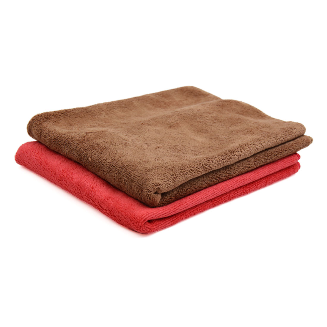 2pcs 40 x 40cm 400GSM Microfiber Car Clean Towels Drying Cloth Coffee Color Red