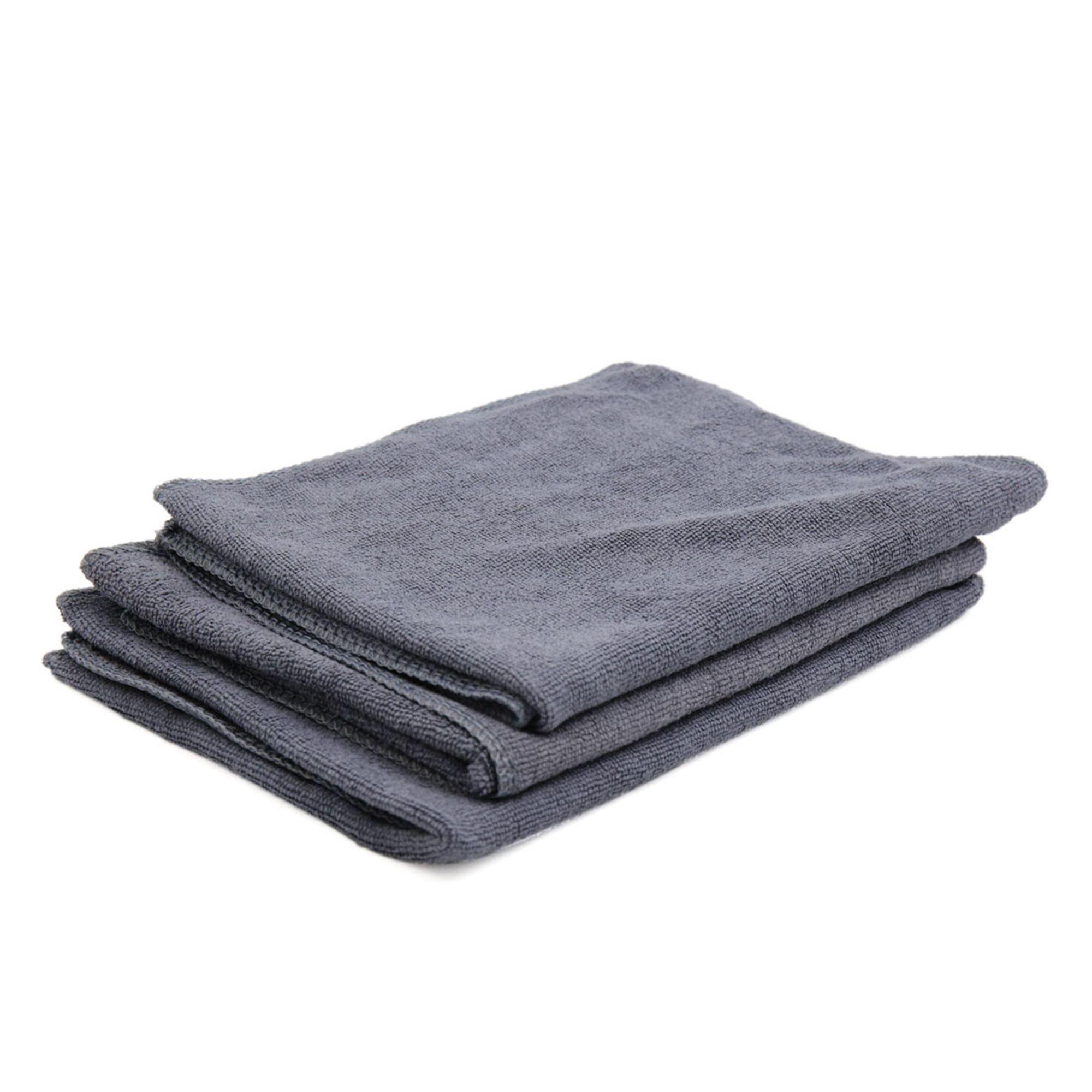3pcs 65 x 33cm 250GSM Microfiber Towel Cleaning Cloths for Car Washing Gray