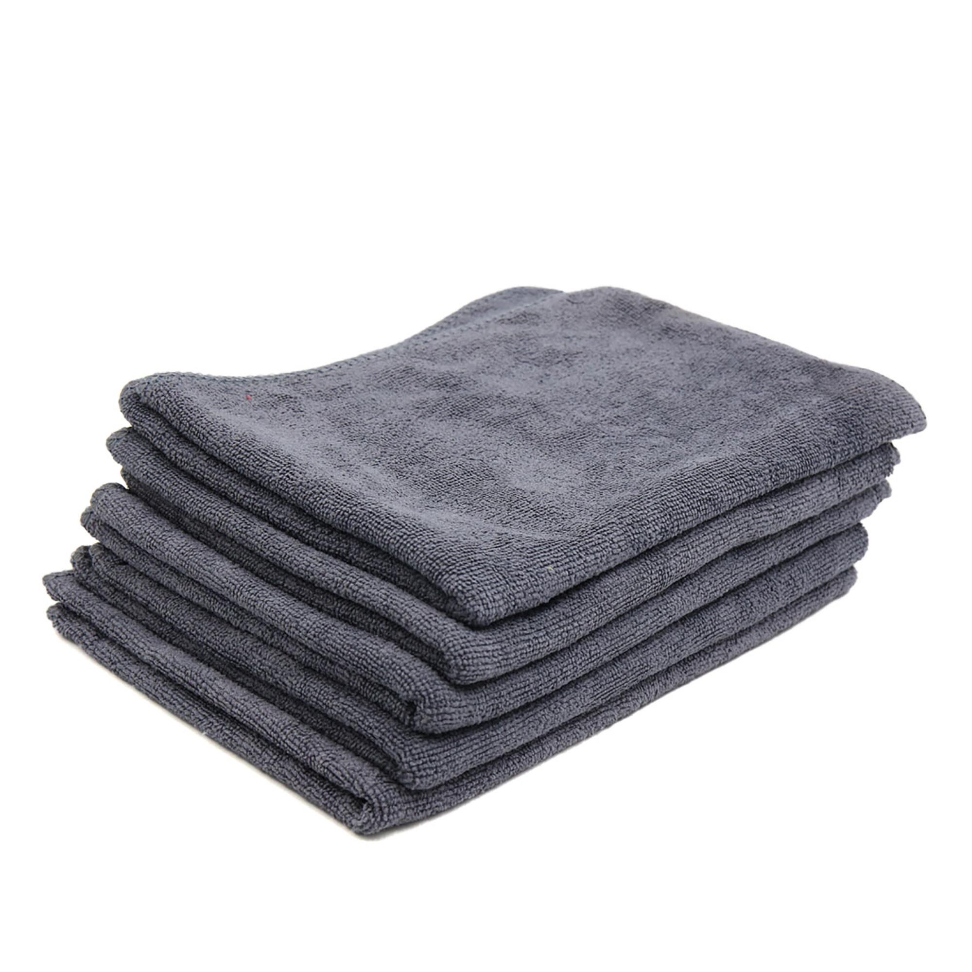 5pcs 65 x 33cm 250GSM Microfiber Towel Clean Cloths for Car Washing Gray