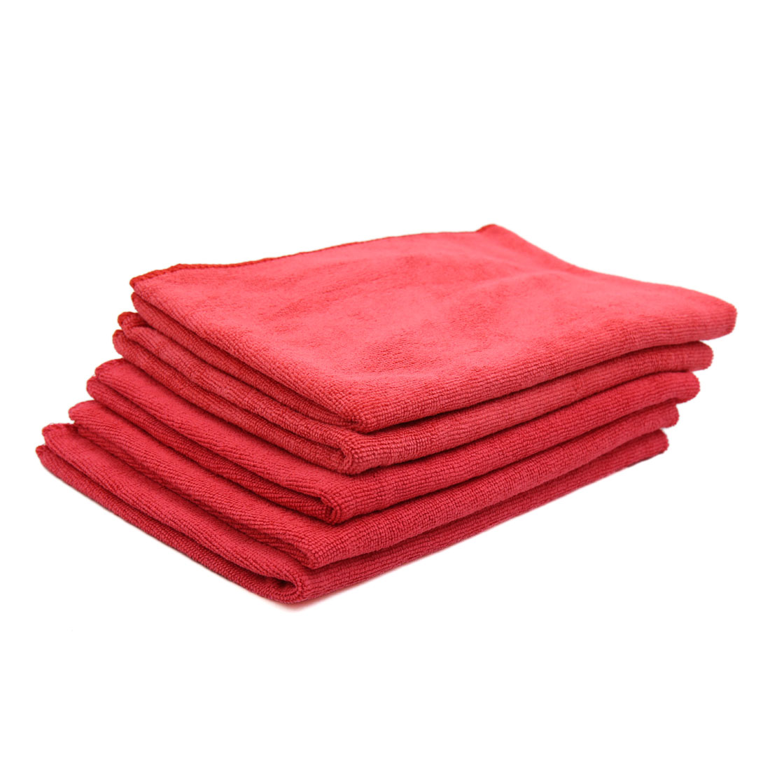 5pcs 65 x 33cm 250GSM Microfiber Towel Clean Cloths for Car Washing Red