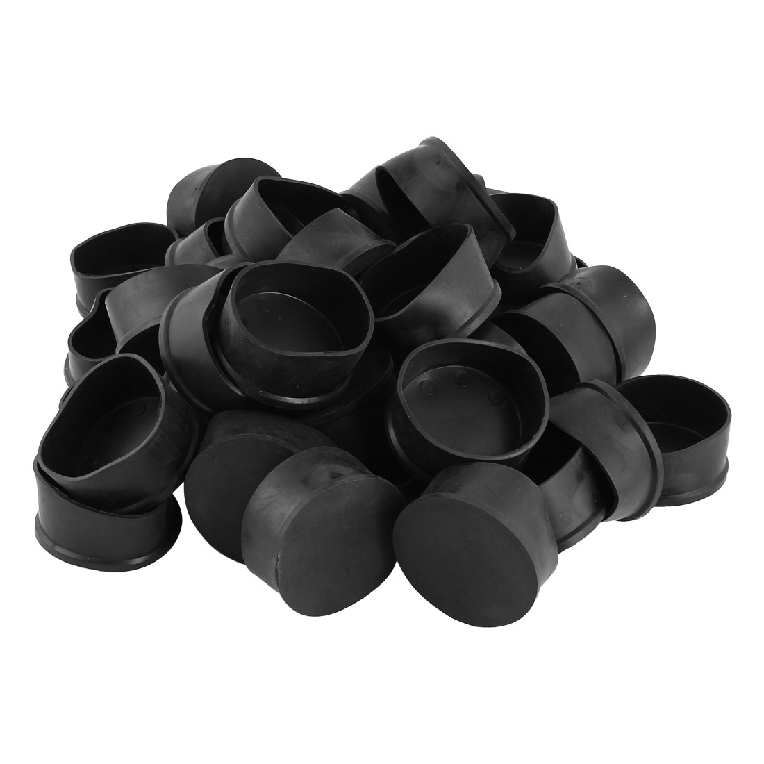Home Rubber Furniture Chair Foot Legs Cover Pad Caps Black 63mm Hole Dia 39 Pcs