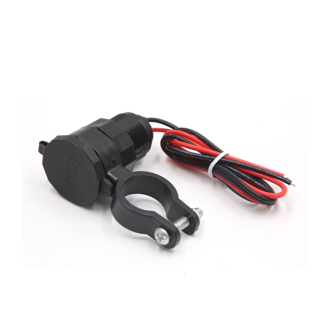 Black Waterproof Cell Phone Power Supply USB Charger Adaptor for Motorcycle