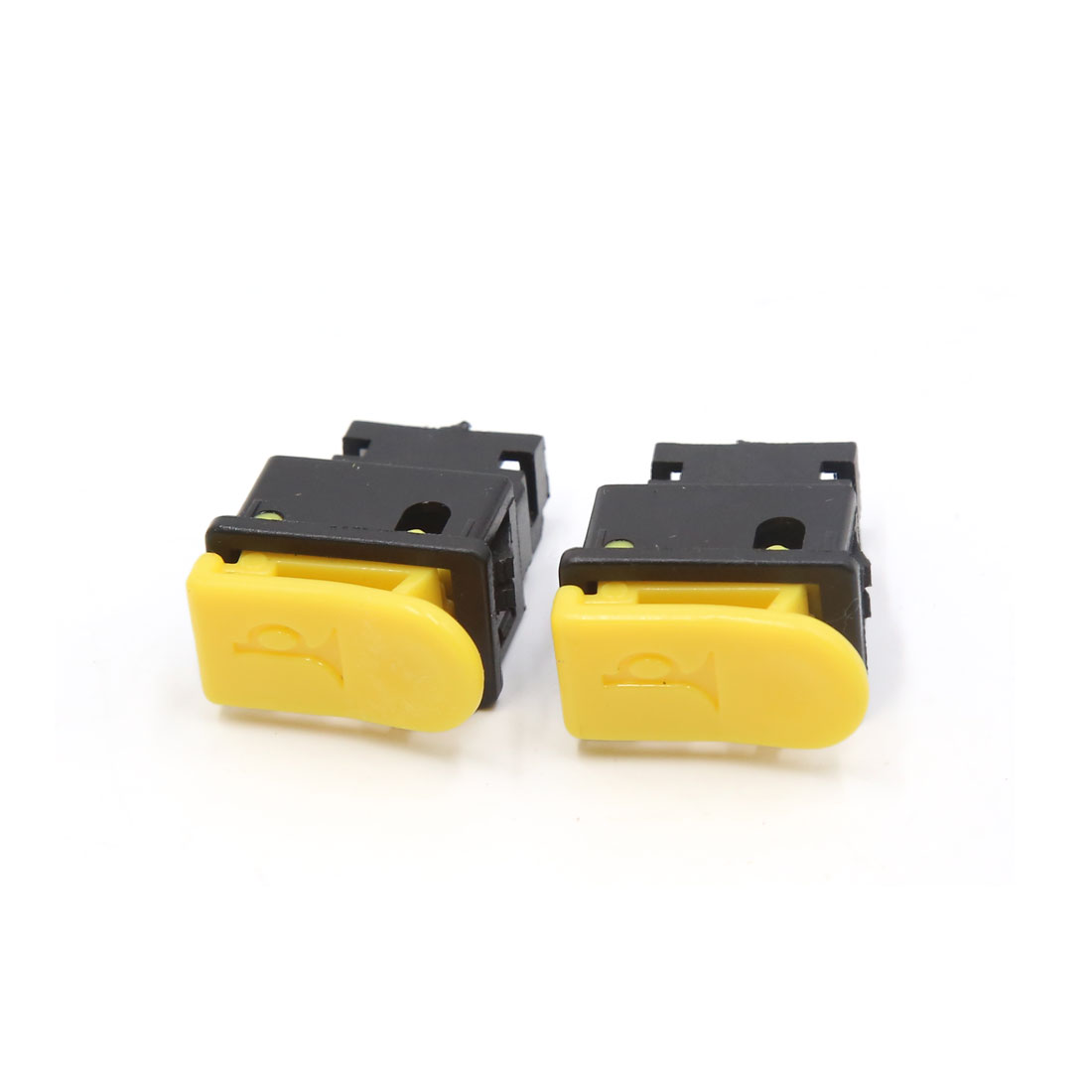 2pcs Yellow Black DC 12V 2 Terminals Horn Push Button Switch for Motorcycle
