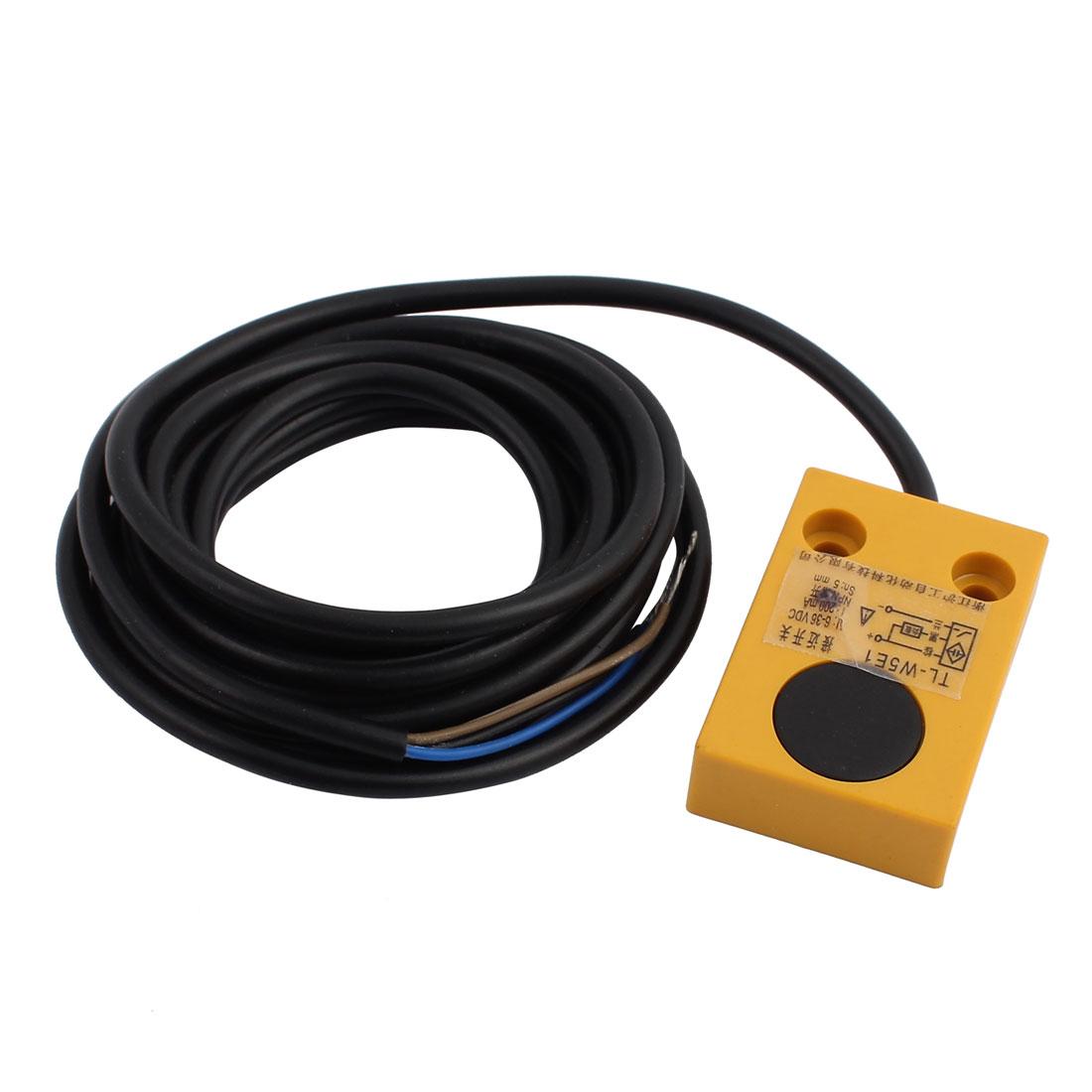 TL-W5E1 DC 6-36V 200mA NPN NO 5mm Inductive Proximity Sensor Switch 3-wire