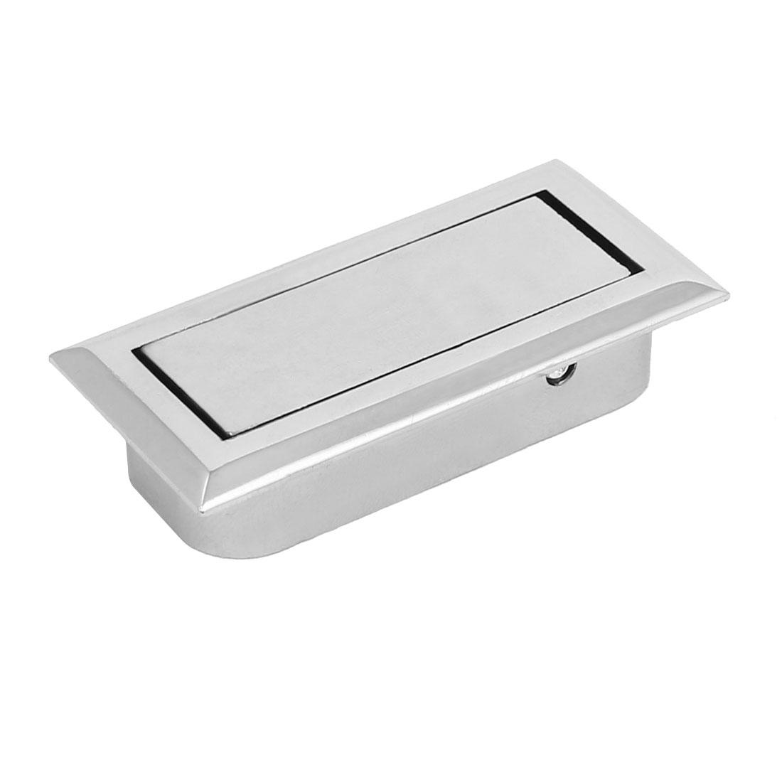 Home Office Drawer Dresser Metal Hidden Pull Handle Grip Silver Tone
