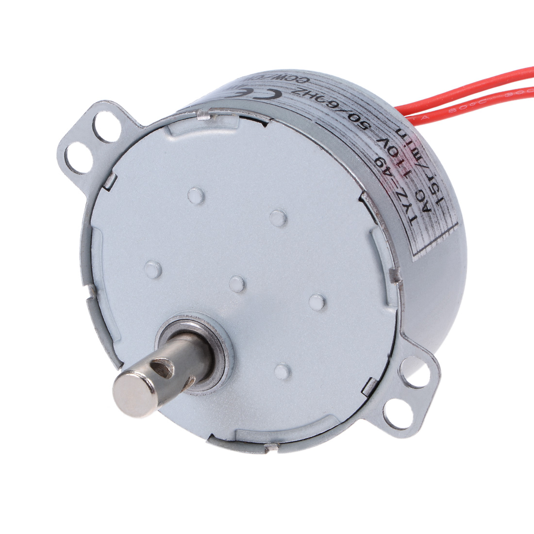 110V 50/60Hz 15RPM CW/CCW AC Synchronous Motor Turntable Gear Box for Microwave