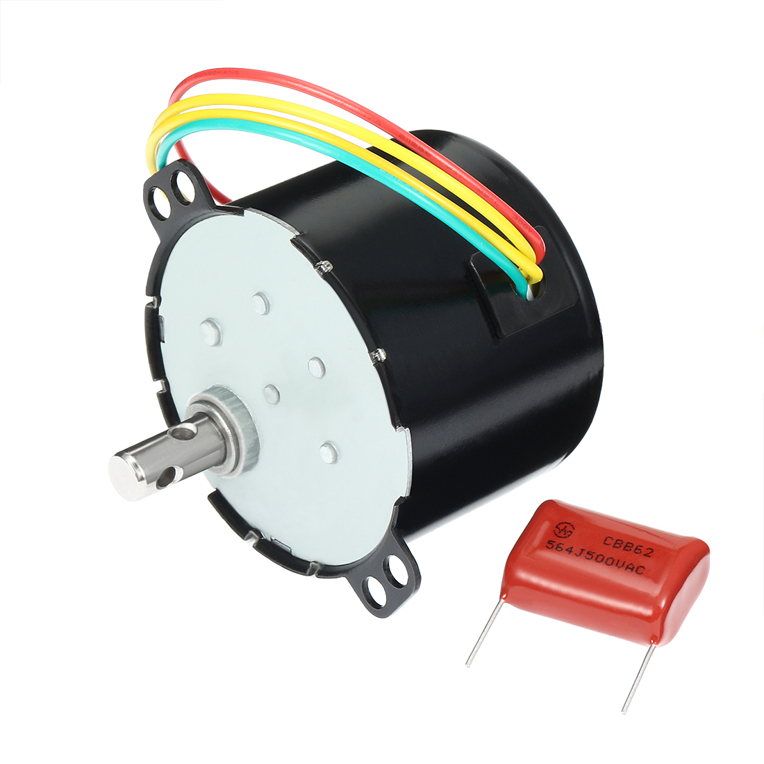AC 110V 50Hz 6W 1.5RPM Synchronous Motor Output Speed Reduction Geared Box