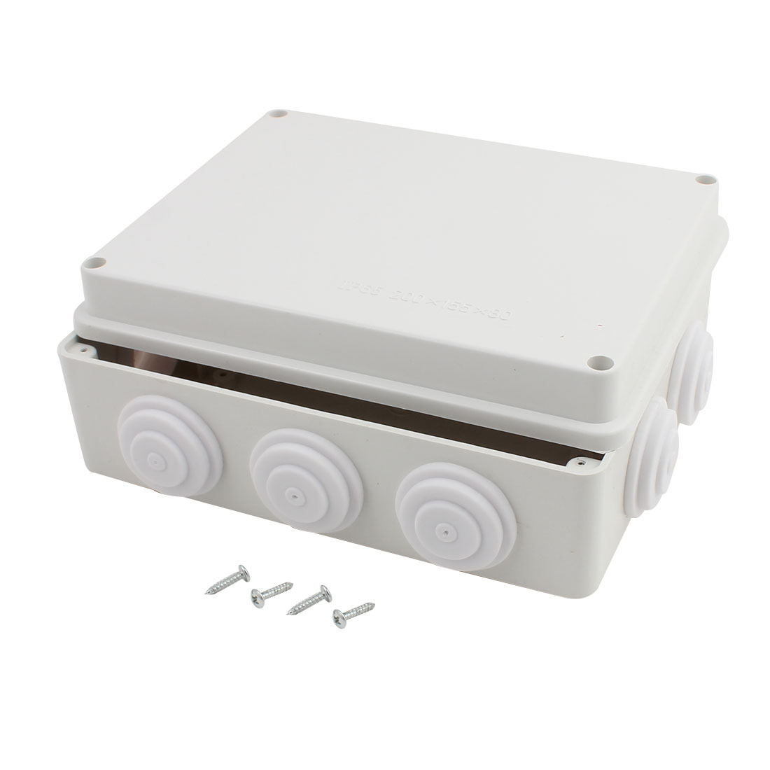 200mmx155mmx80mm Dustproof IP65 Junction Box Electric Project Enclosure