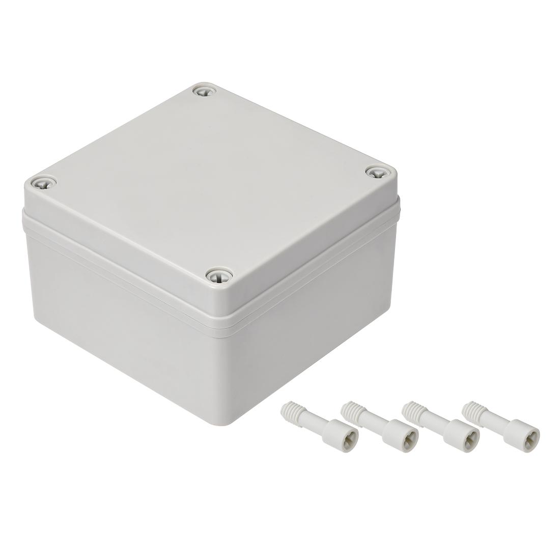 125mmx125mmx75mm Dustproof IP65 Junction Box DIY Case Enclosure Gray
