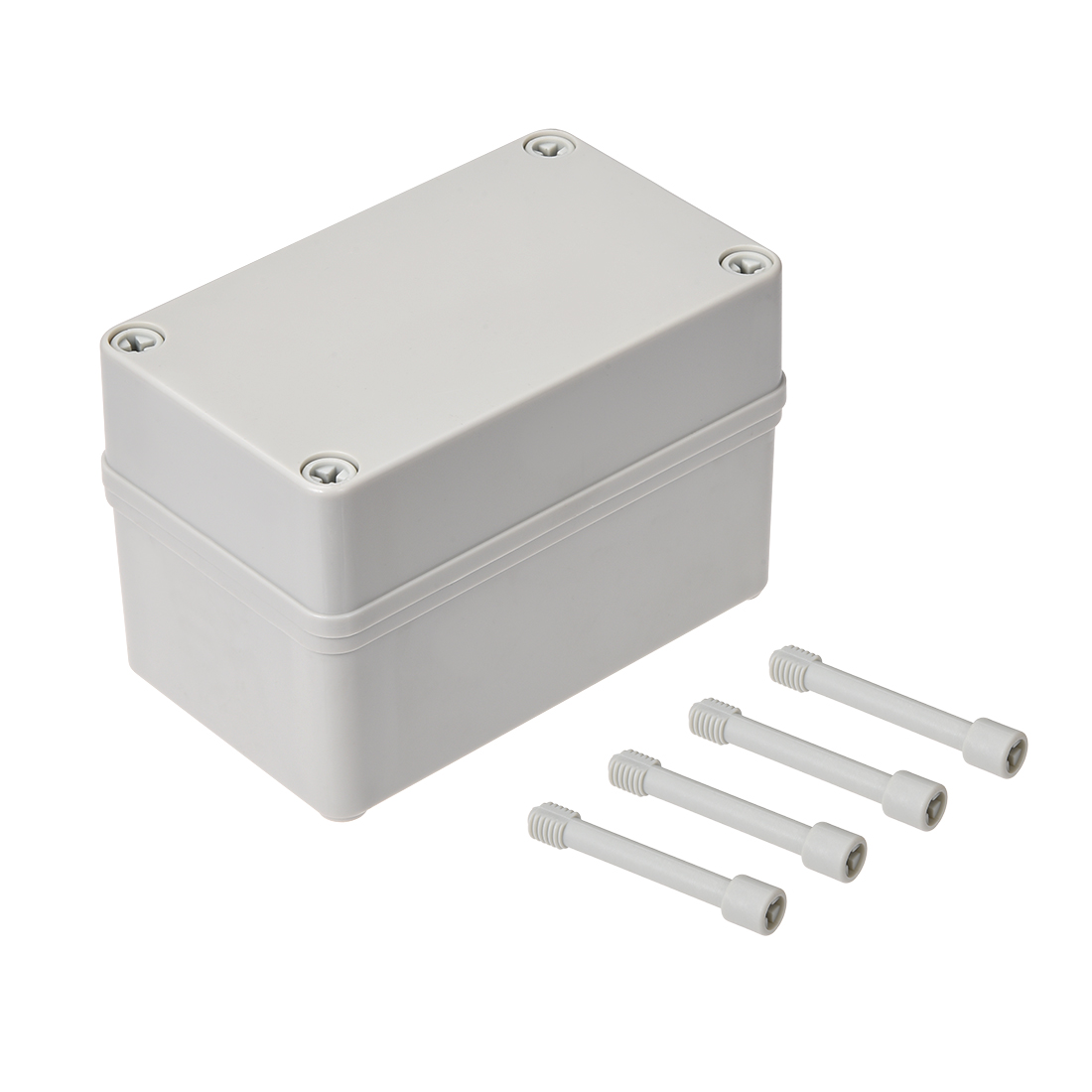130mm x 80mm x 85mm Dustproof IP65 Junction Box DIY Case Enclosure Gray