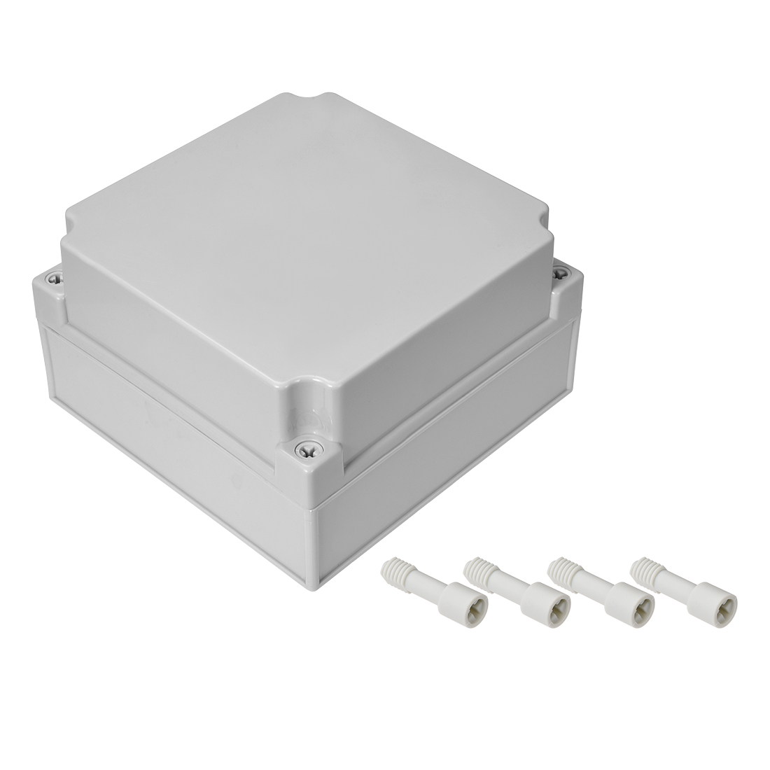 175mm x 175mm x 100mm Dustproof IP65 Junction Box DIY Case Enclosure Gray