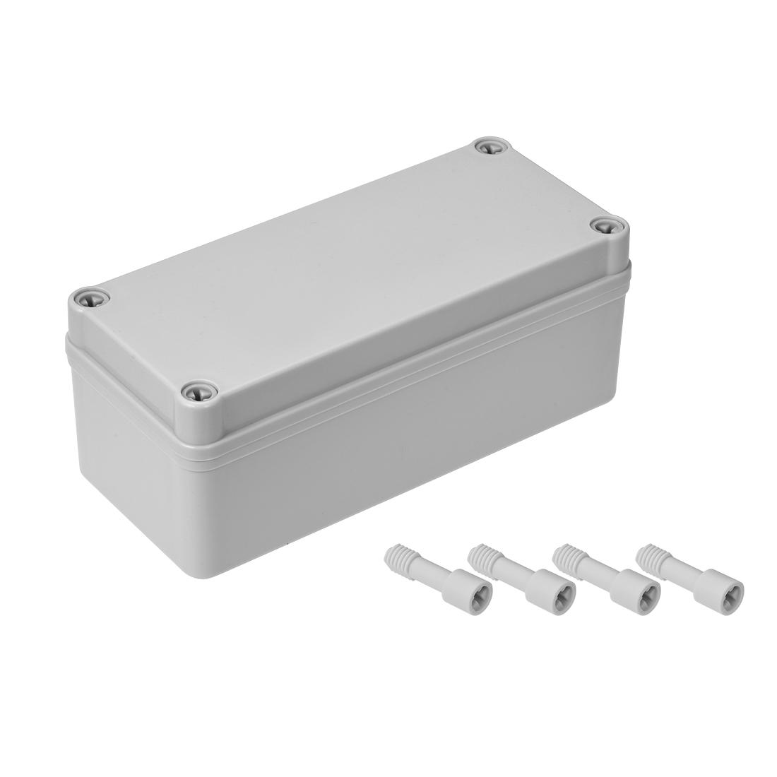 180mmx80mmx70mm Dustproof IP65 Junction Box DIY Case Enclosure Gray