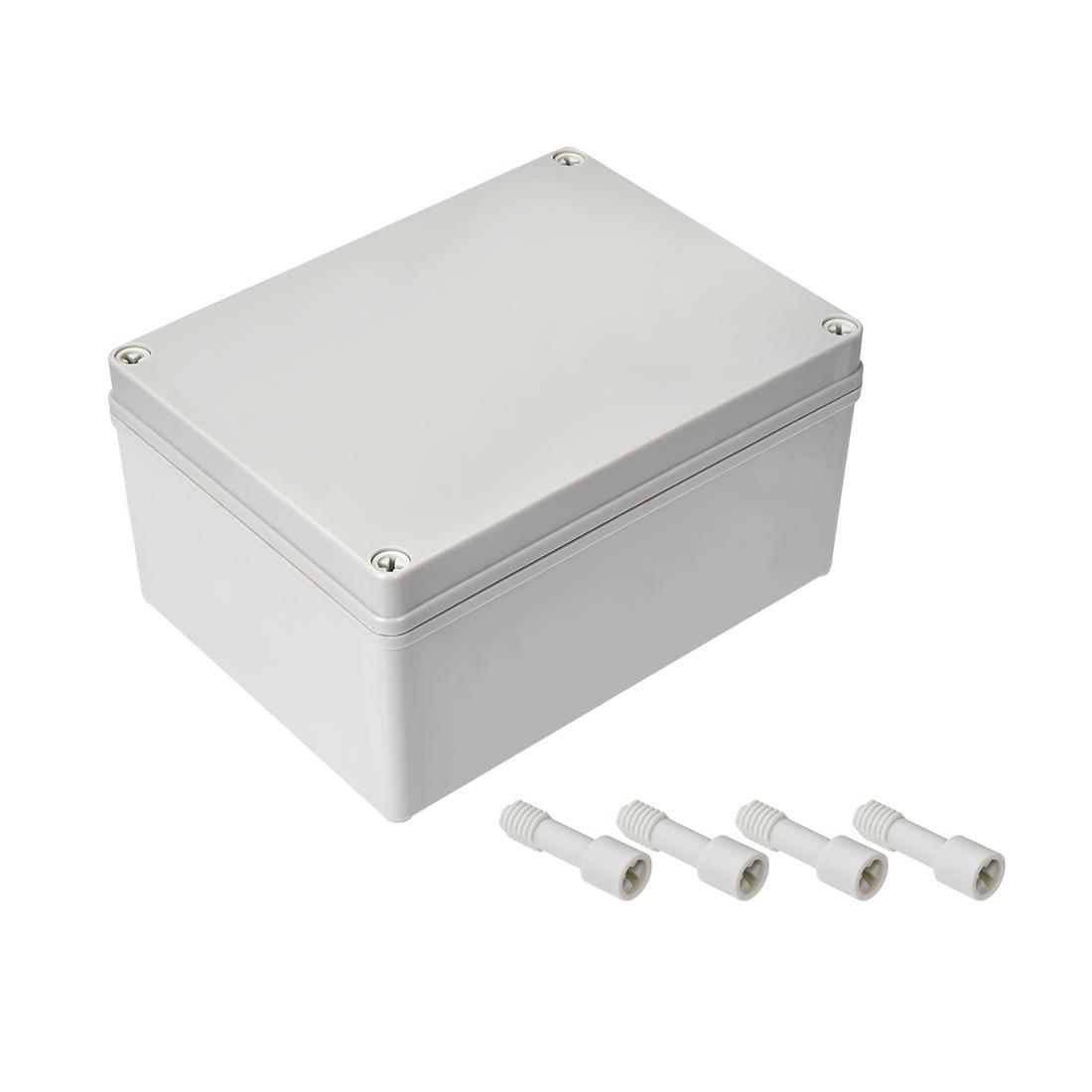 200mm x 150mm x 100mm Dustproof IP65 Junction Box DIY Case Enclosure Gray