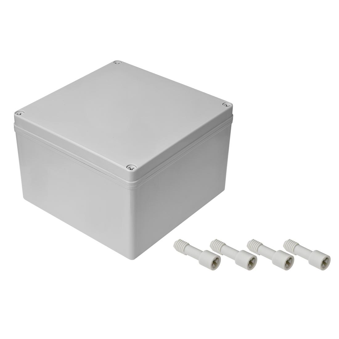 200mm x 200mm x 130mm Dustproof IP65 Junction Box DIY Case Enclosure Gray