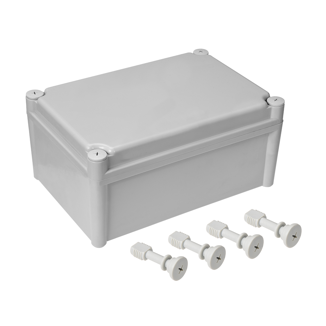 280mmx190mmx130mm Dustproof IP65 Junction Box DIY Terminal Connecting Box Gray