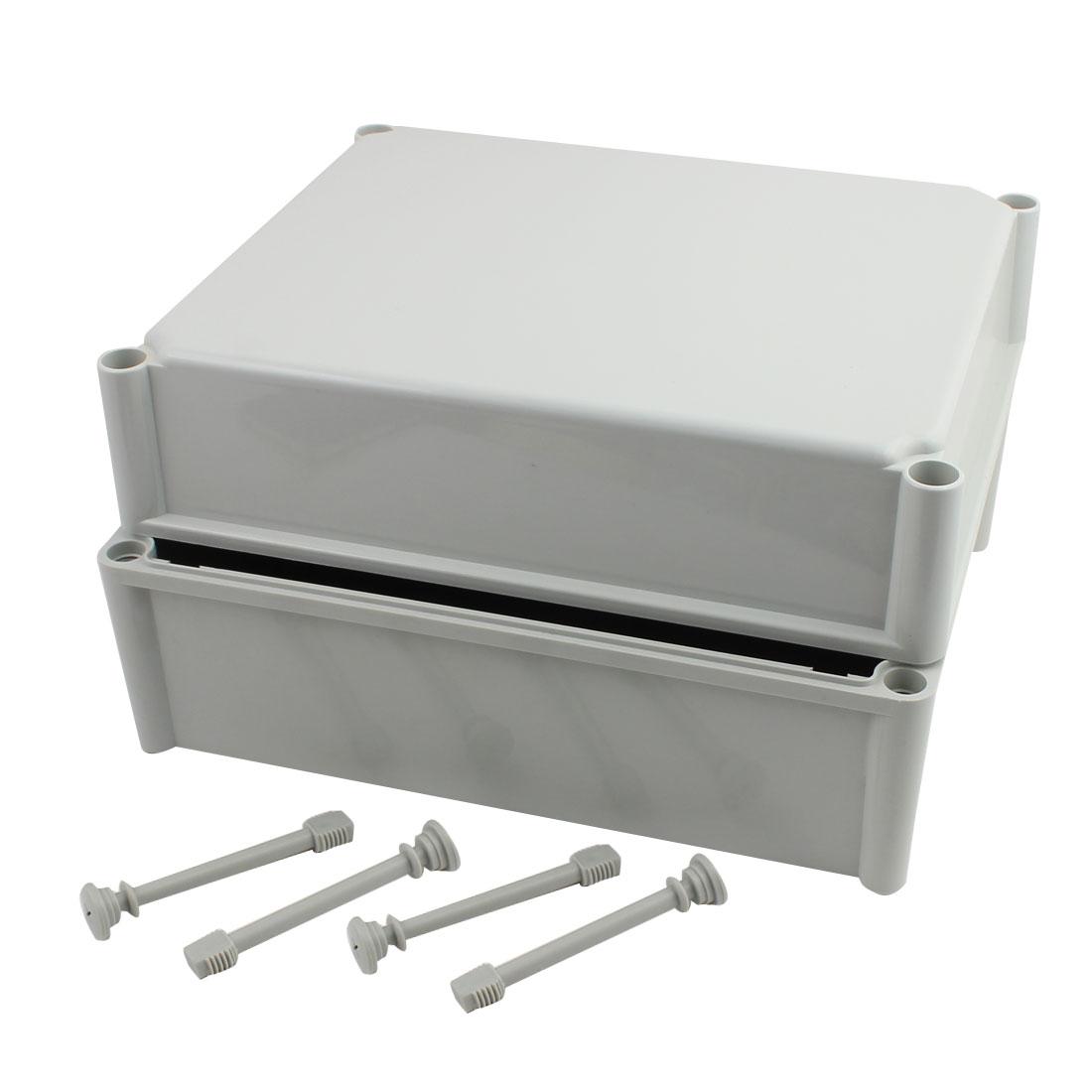 340mm x 280mm x 180mm Dustproof IP65 Junction Box DIY Case Enclosure Gray