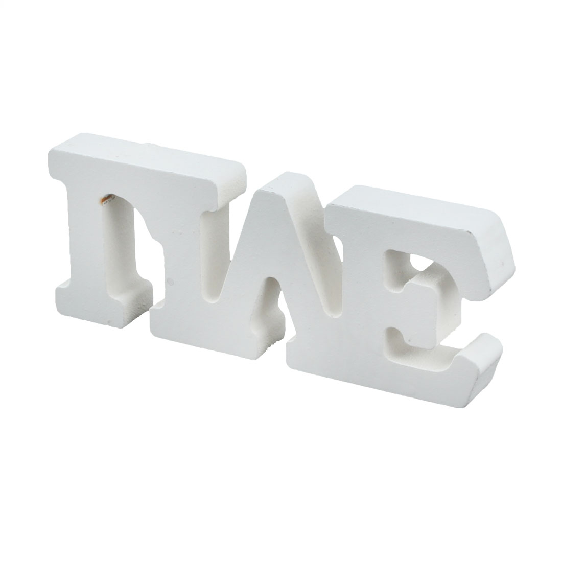 Wedding Home Wooden LIVE English Letter Alphabet DIY Craft Wall Decoration White